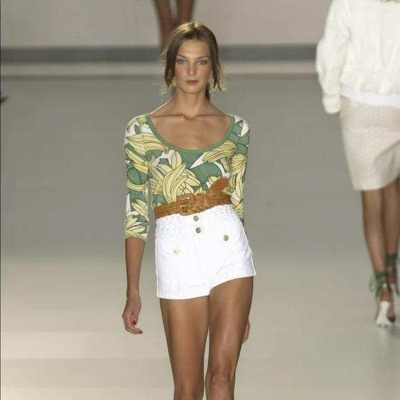 Chloe RARE RUNWAY Braid White Jeans Mini Skirt 2